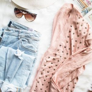 Juicy Couture Pink Crystal Embellished Cardigan